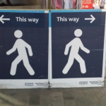Sign with two directions