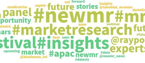 World cloud of social chat about the Festival of #NewMR